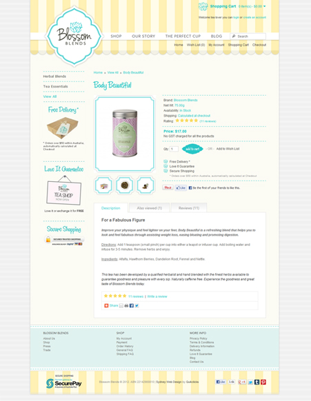 E-commerce WebDesign for Blossom Blends