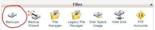 Backup website files and databases in cpanel