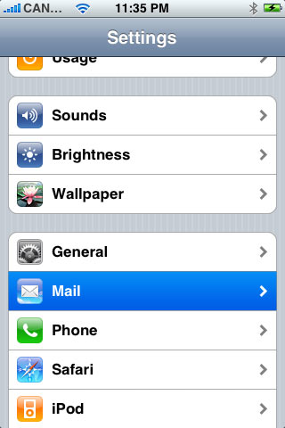 Setting up POP3 on iphone - step 2