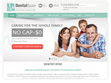 Quikclicks Web Design Sydney Portfolio | Dental Square