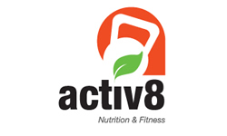 Graphic Logo Design Company | Activ8 Nutrition Fitness