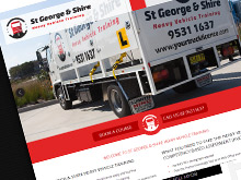 george-shire-heavy-vehicle-training-cms-website-design-sydney