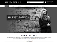 ecommerce website design review - harvey patrick