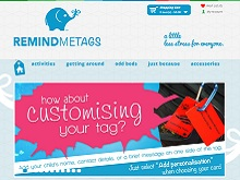 Ecommerce website design review - remind me tags
