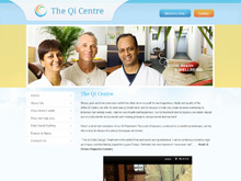 CMS Website design testimonial - qi centre