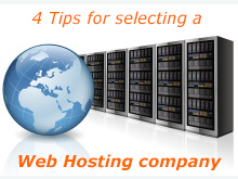 4 tips for selecting a web hosting company