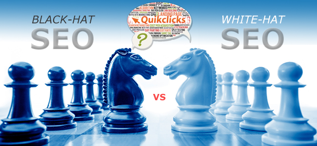 Black Hat vs White Hat SEO - Quikclicks
