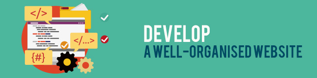 develop a well organised website quikclicks