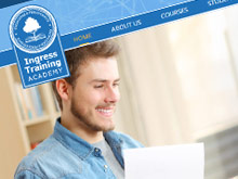ingress-training-academy-cms-website-design-sydney