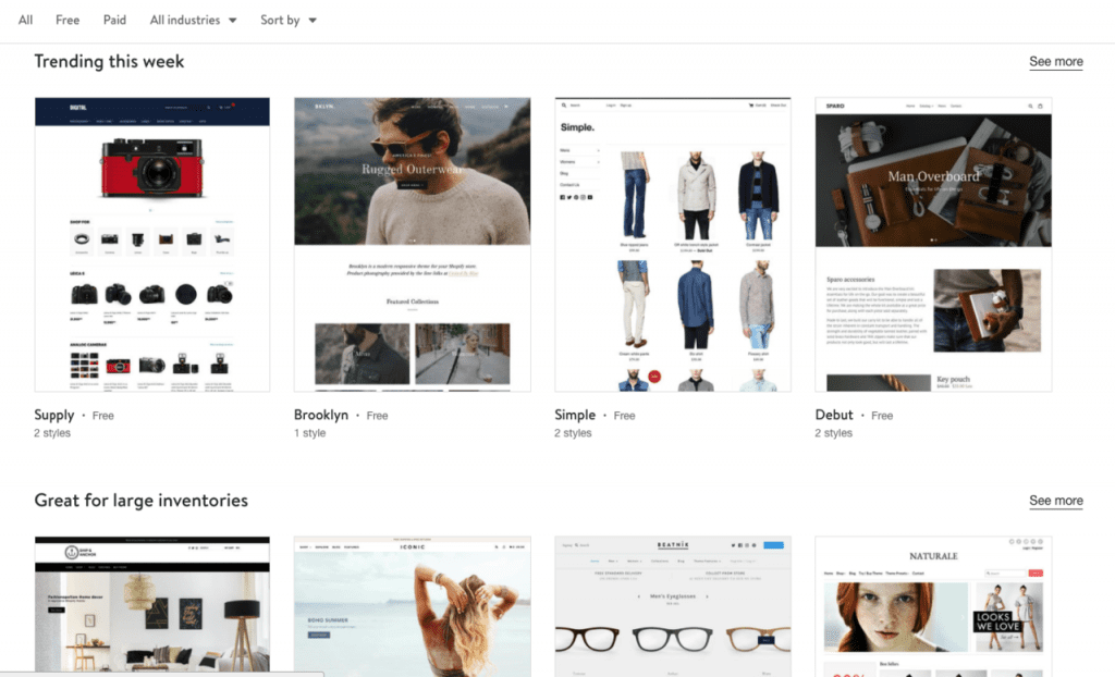 Shopify Design Options quikclicks