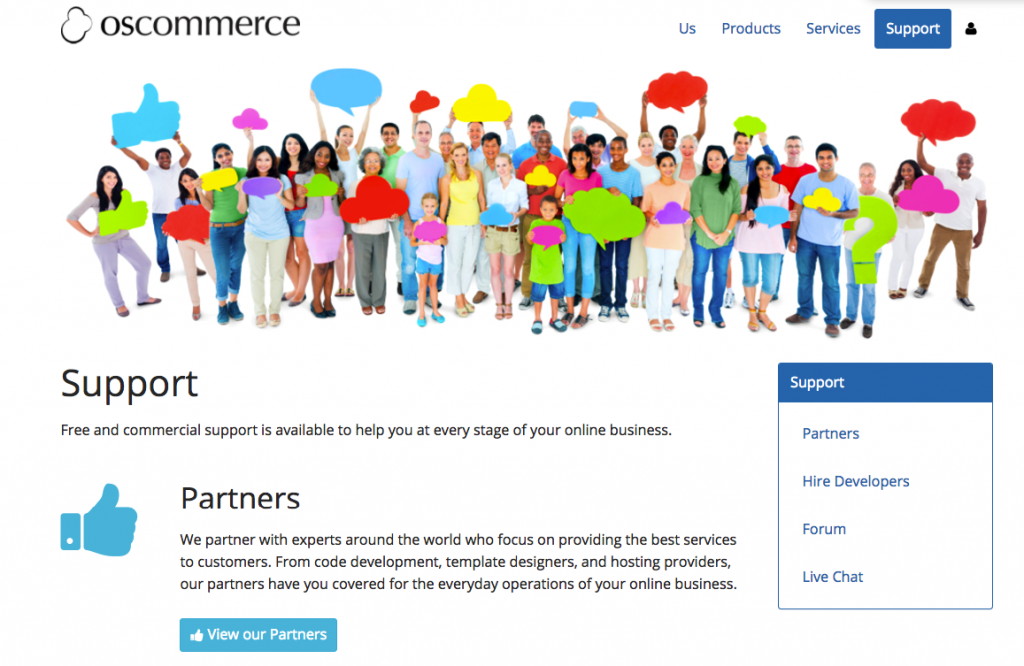 OsCommerce – Customer Support