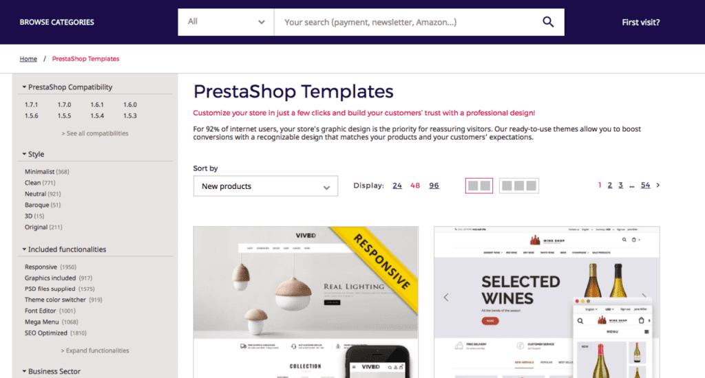 PrestaShop - Design