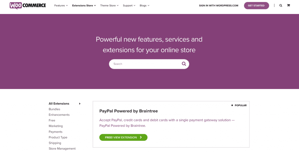 WooCommerce - Features