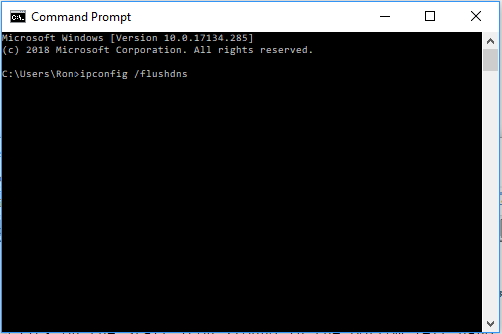 flush DNS in Command Prompt Windows 10
