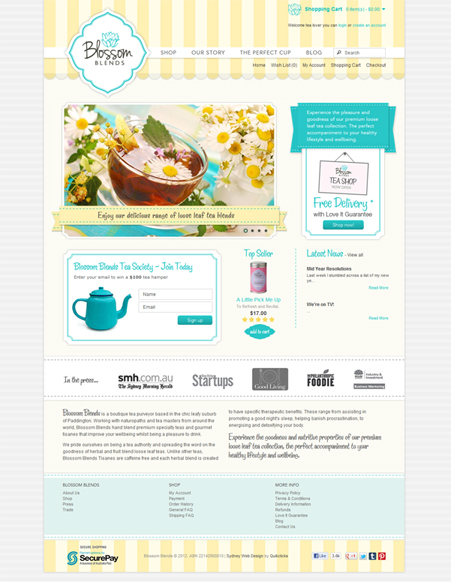 E-commerce Website Design for Blossom Blends