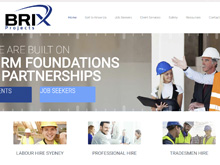 Wordpress Website Design for Brix Projects