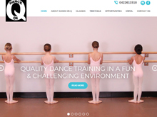 Wordpress Web Design - Dance on Q