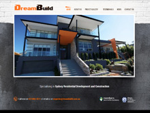 Dream Build CMS Website Design