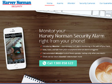 CMS Website Design Sydney | Harvey Norman Security