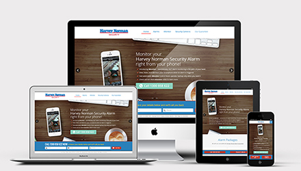 Responsive WordPress Webdesign for Harvey Norman Security